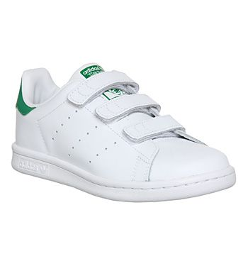 Kids Adidas Stan Smith Cf Ps 10 2 White Green Velcro