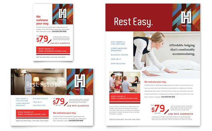 Hotel Flyer and Ad Template Design by StockLayouts | Maquetacions ...