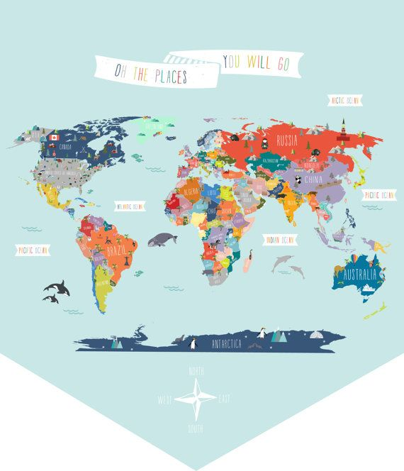 World map solid banner wall decal by thelovelywall on etsy world map solid banner wall decal by thelovelywall on etsy gumiabroncs Image collections