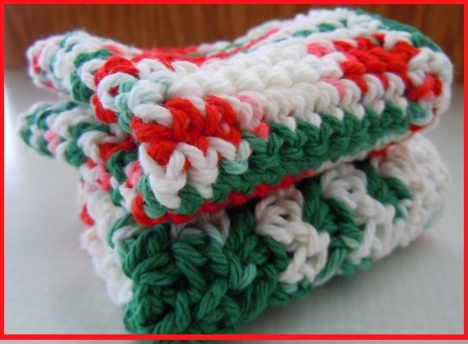 Crochet Christmas Dishcloth Patterns | Favorite Crochet and Knitting ...