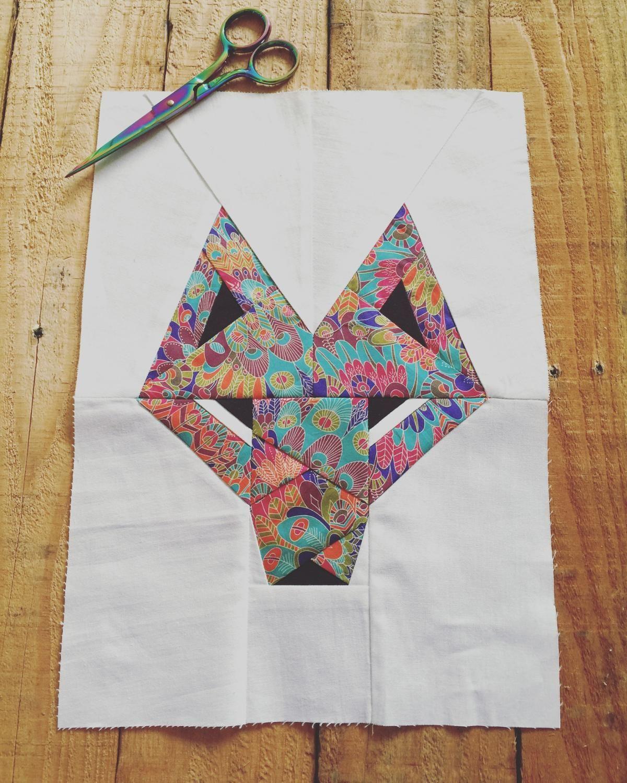 Mr Wolf Foundation Paper piecing pattern
