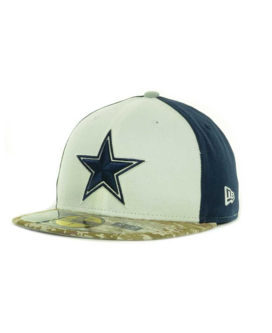 New Era Dallas Cowboys Salute to Service On Field 59FIFTY Cap ... f3bff1b2d