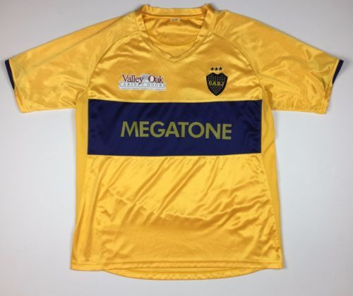 ca6339687 Club-Atletico-Boca-Juniors-CABJ-Soccer-Jersey -Argentina-Futbol-M-Gold-and-Blue