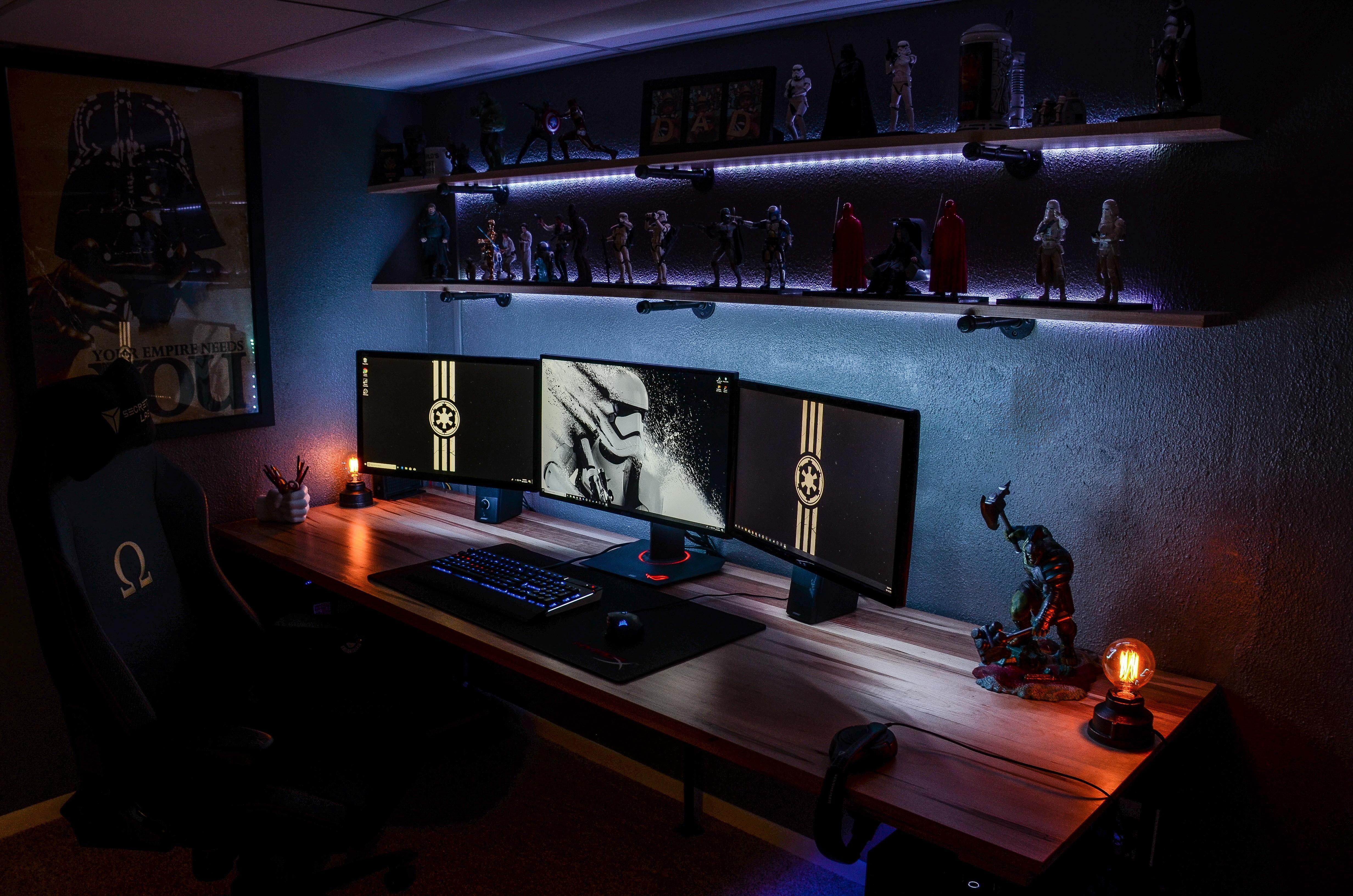 New Setup (Yes I do love Star Wars) Gaming room setup