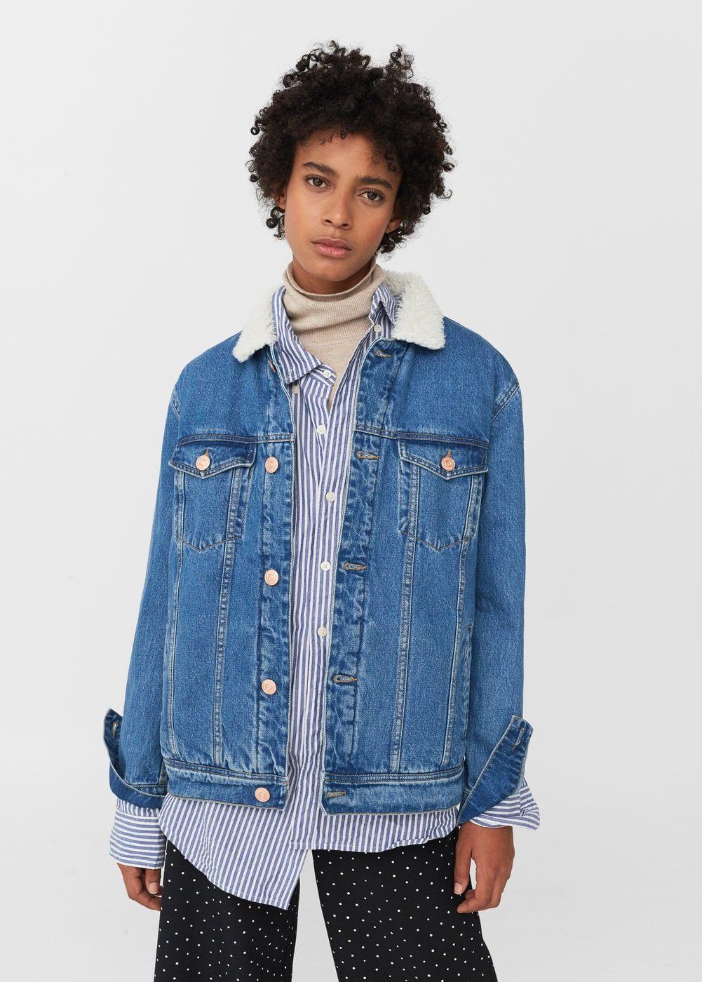 Embroidered denim jacket | MANGO