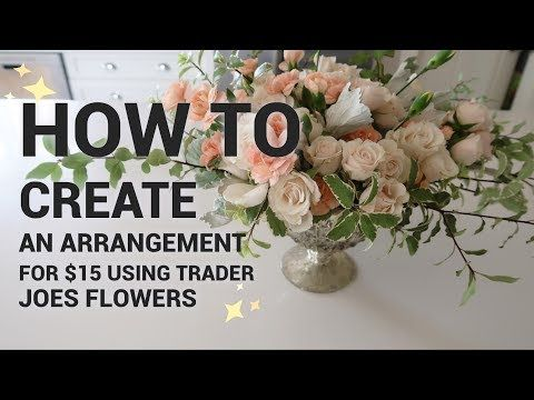 How To Make A 15 Flower Arrangement With Only Trader Joes Flowers Youtube Large Floral Arrangements Floral Arrangements Diy Funeral Flower Arrangements