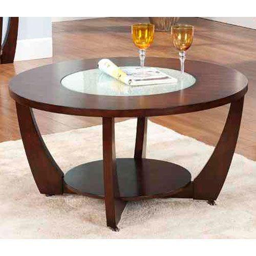 Steve Silver Company Rafael Cocktail Table Rf300c Round Wood Coffee Table Round Coffee Table