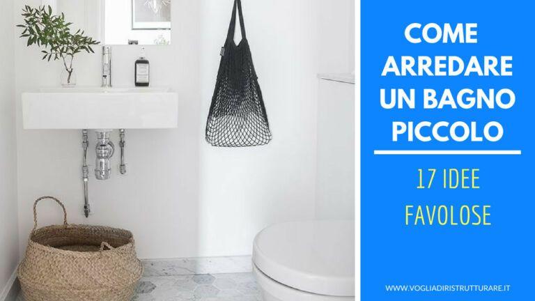 Photo of Come arredare un bagno piccolo: 17 ideas favolose