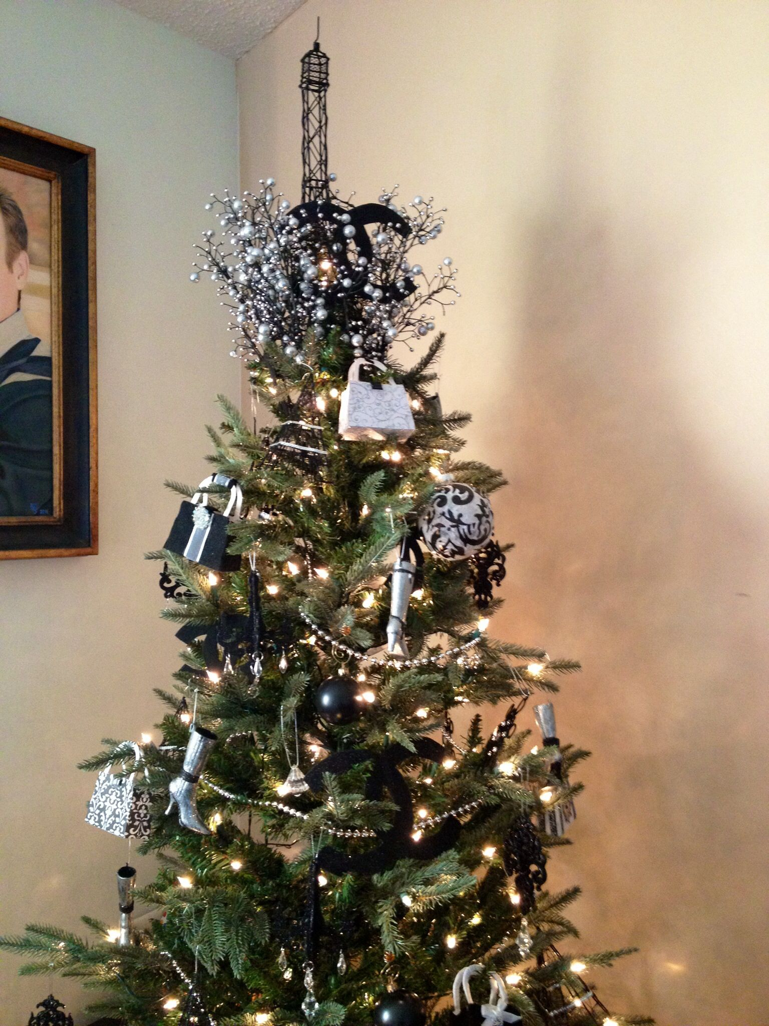 My Parisian Christmas tree | Fa la la winter decor | Pinterest ...