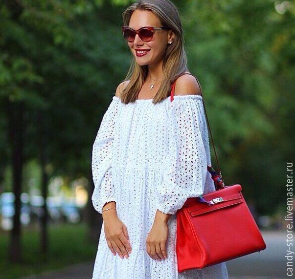 ca6c84fffbd Купить Платье из шитья - белый
