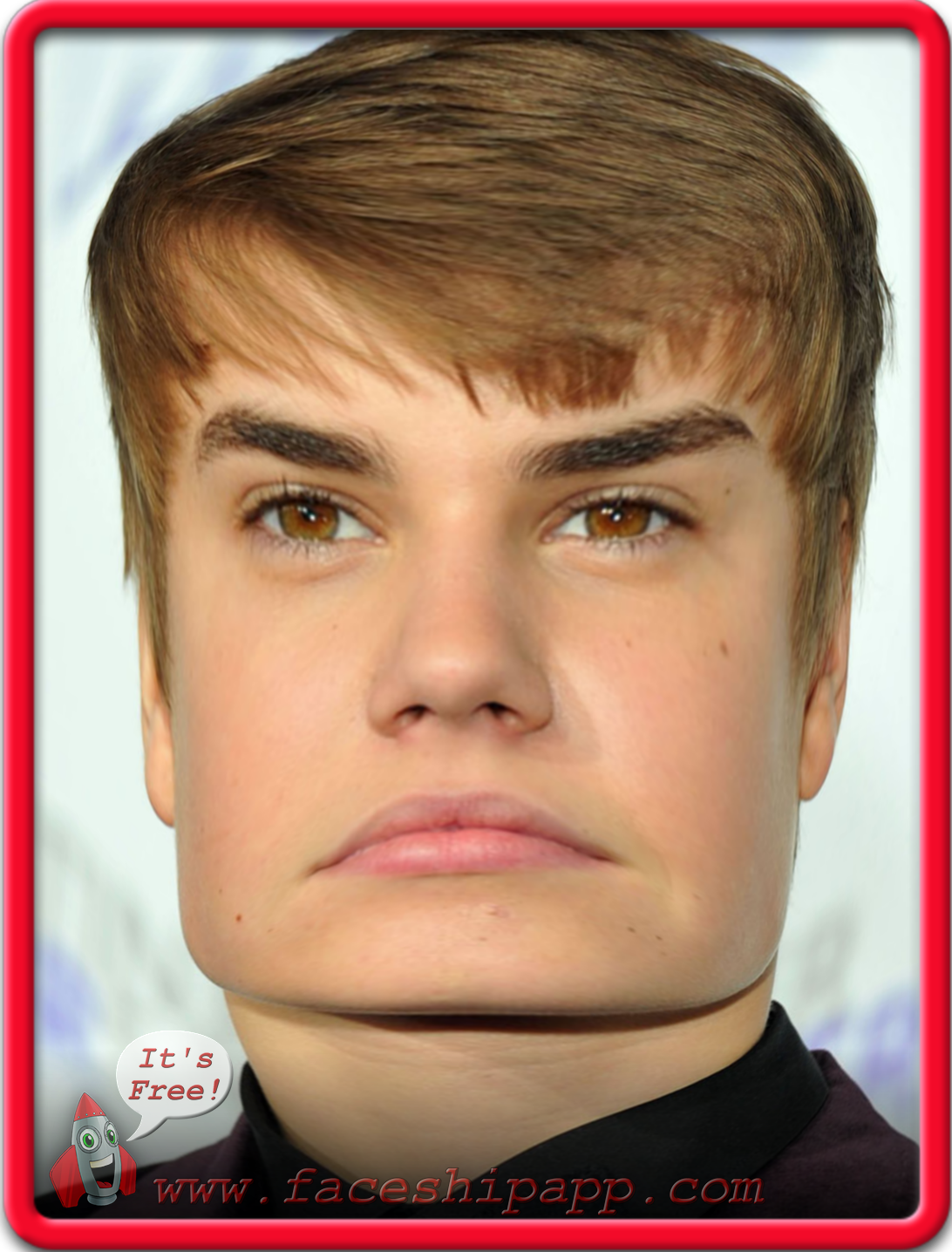 A Bieber Variation, created with the new Face-changing app
