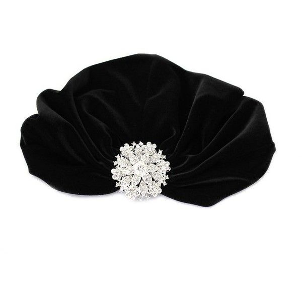 5e03f20eb0d Kristin Perry Crystal Floral Flapper Turban ( 48) ❤ liked on Polyvore  featuring accessories
