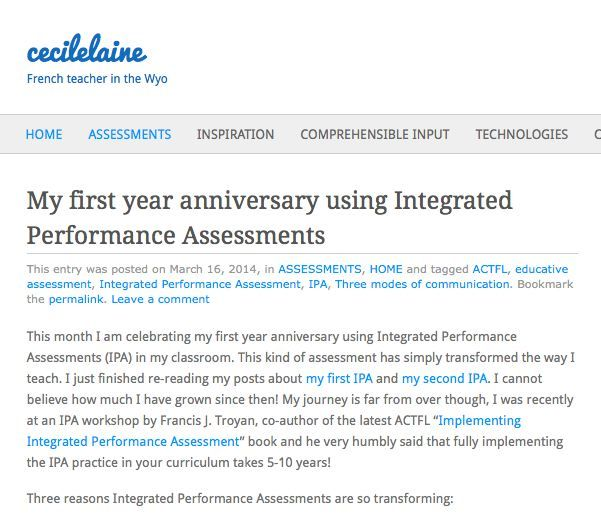 My first year anniversary using Integrated Performance Assessments