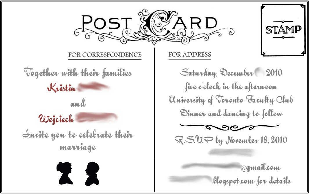 Postcard Invites  Google Search  Cards