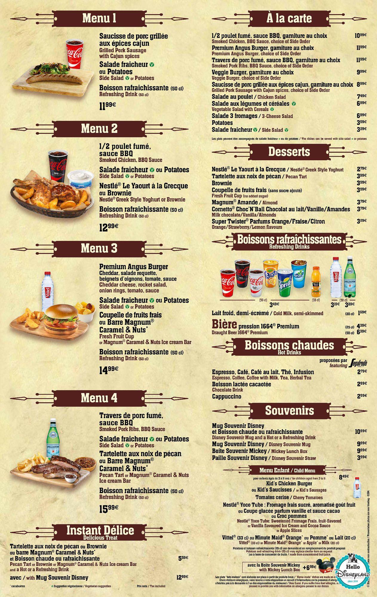 Menus Restaurants St Sylvestre
