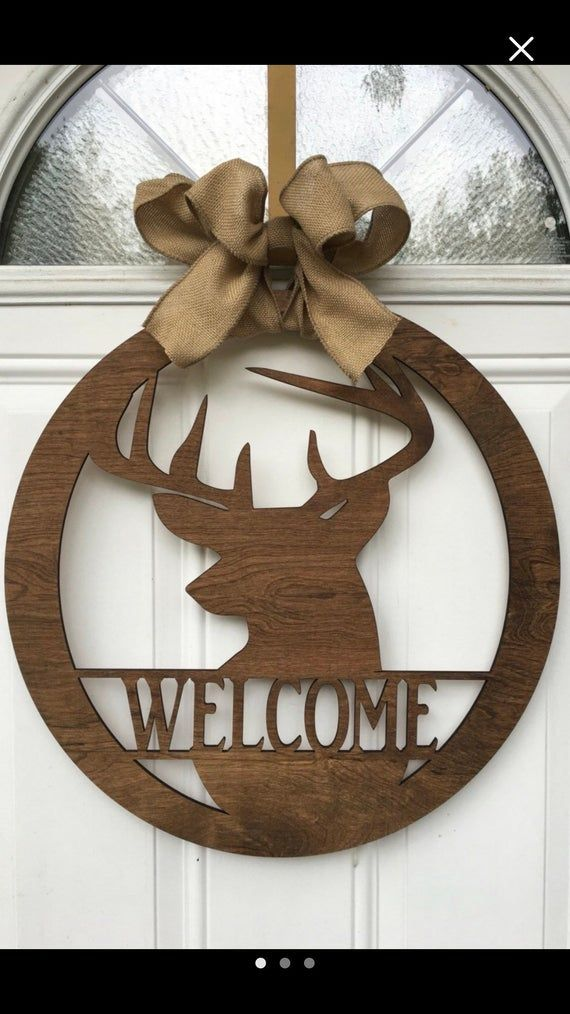 Deer Welcome Door Hanger Etsy Monogram Door Hanger Wooden Door Hangers Door Hangers