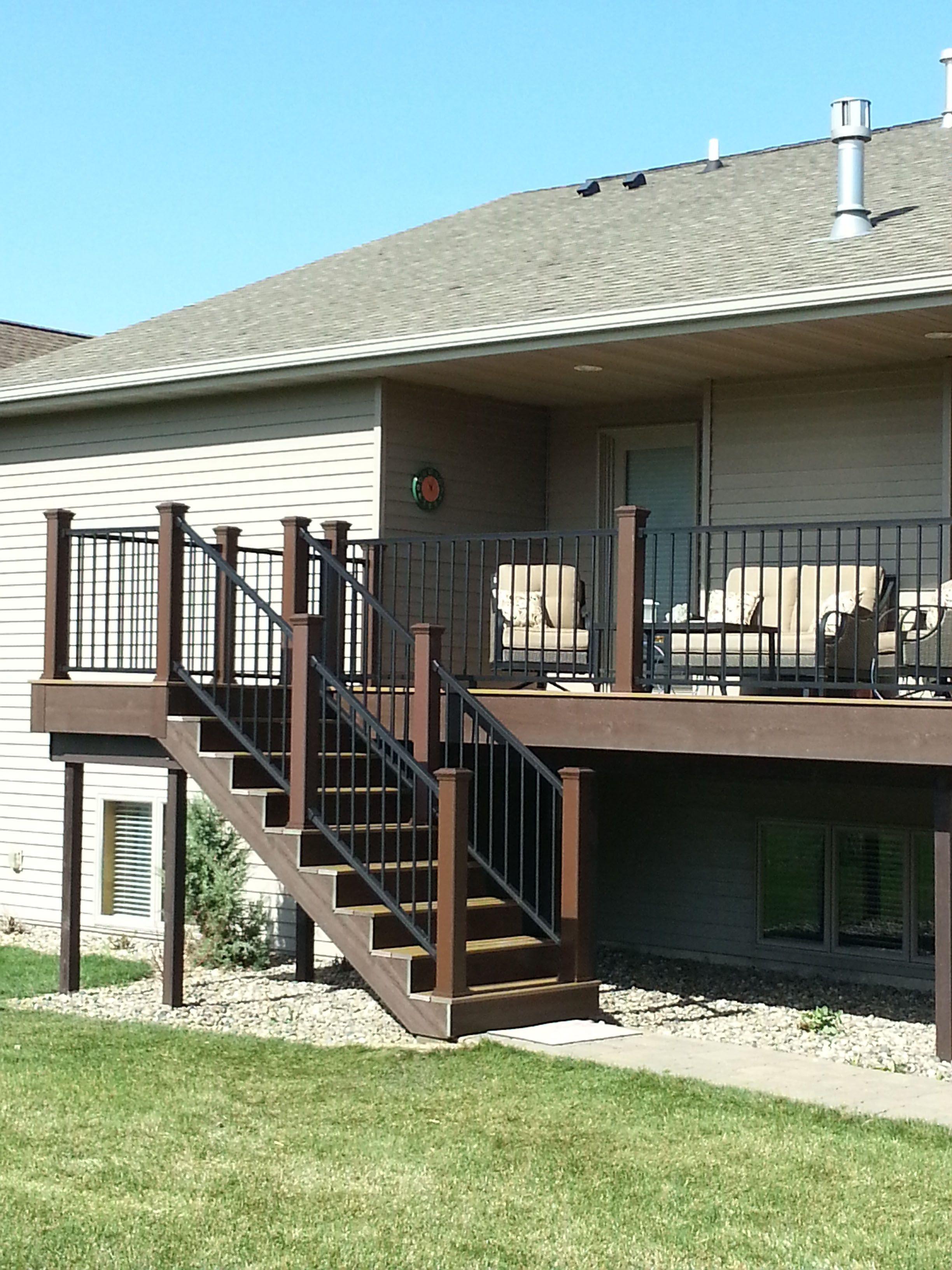 Trex Owners Inspiration Gallery Trex Deck Designs Backyard Deck Ideas For Split Level Homes Gazebo On Deck