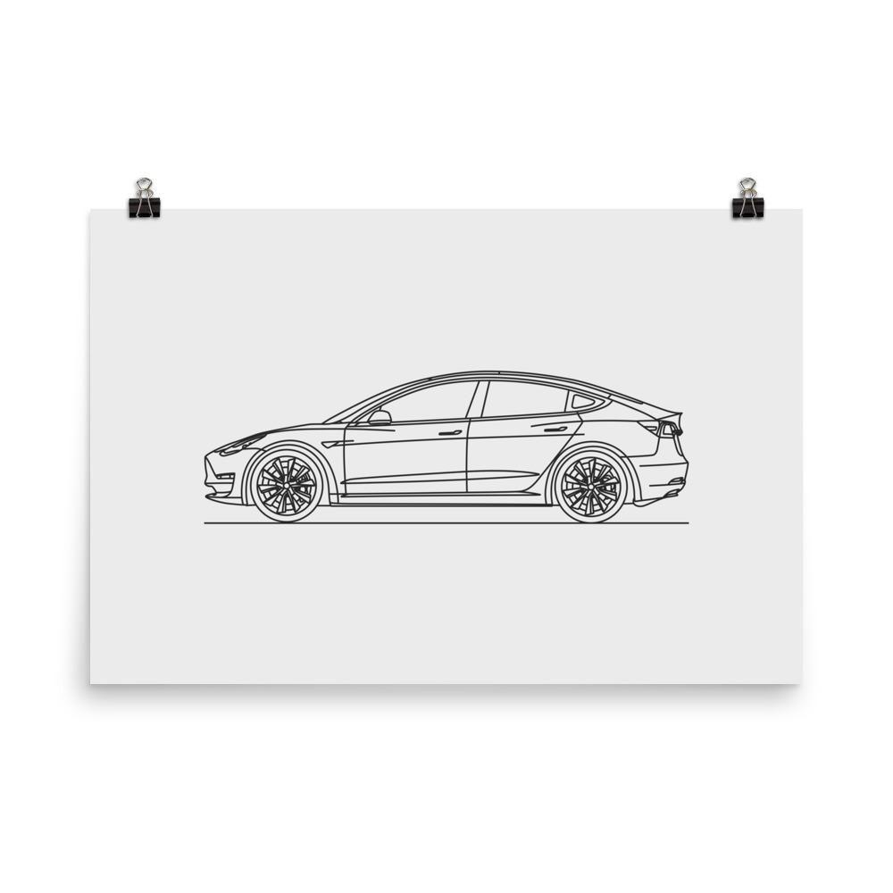 Model minimal line art matte paper products