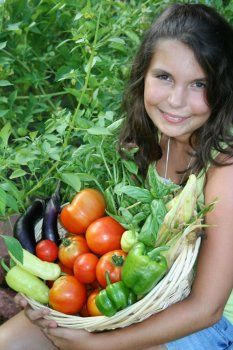 A child spear-heading growing food for the hungry in her community = C'mon adults: let's demonstrate what we can do too!!