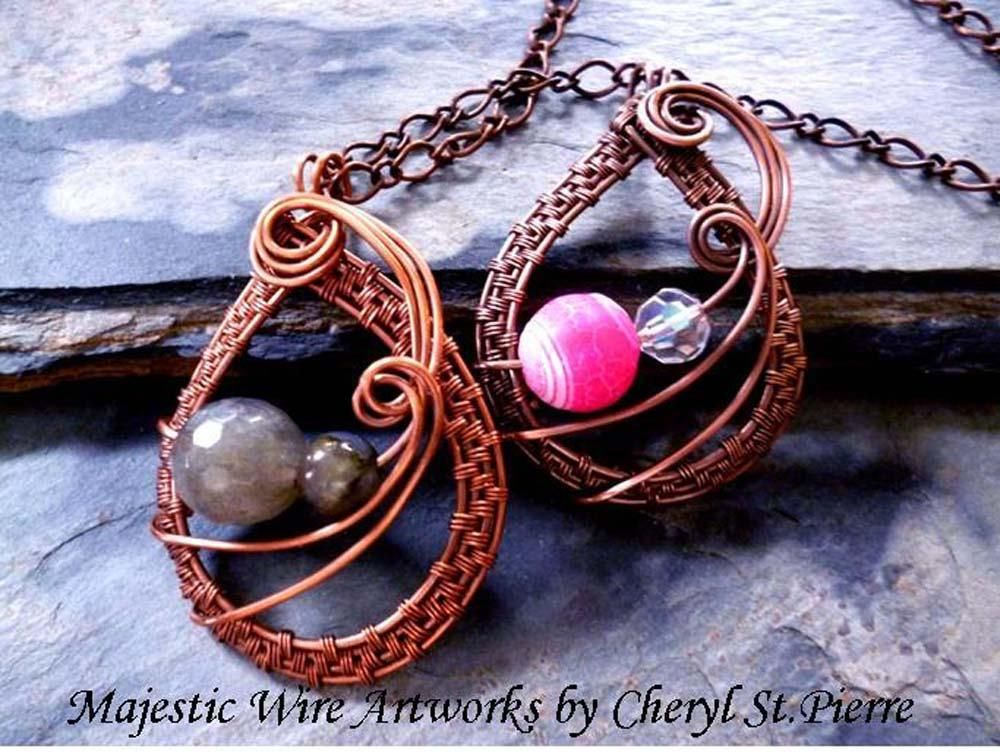 316 best Wire Weaving patterns images on Pinterest   Jewelry ideas ...