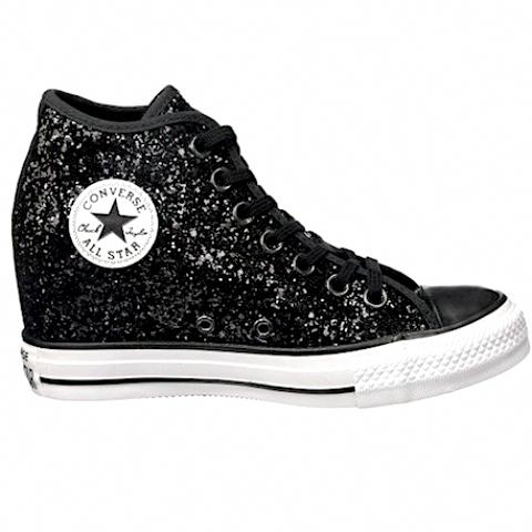 54b2209d44b Sparkly Black Glitter Converse All Stars Wedge Heels Wedding Bride Prom  Sneakers Shoes  Promheels