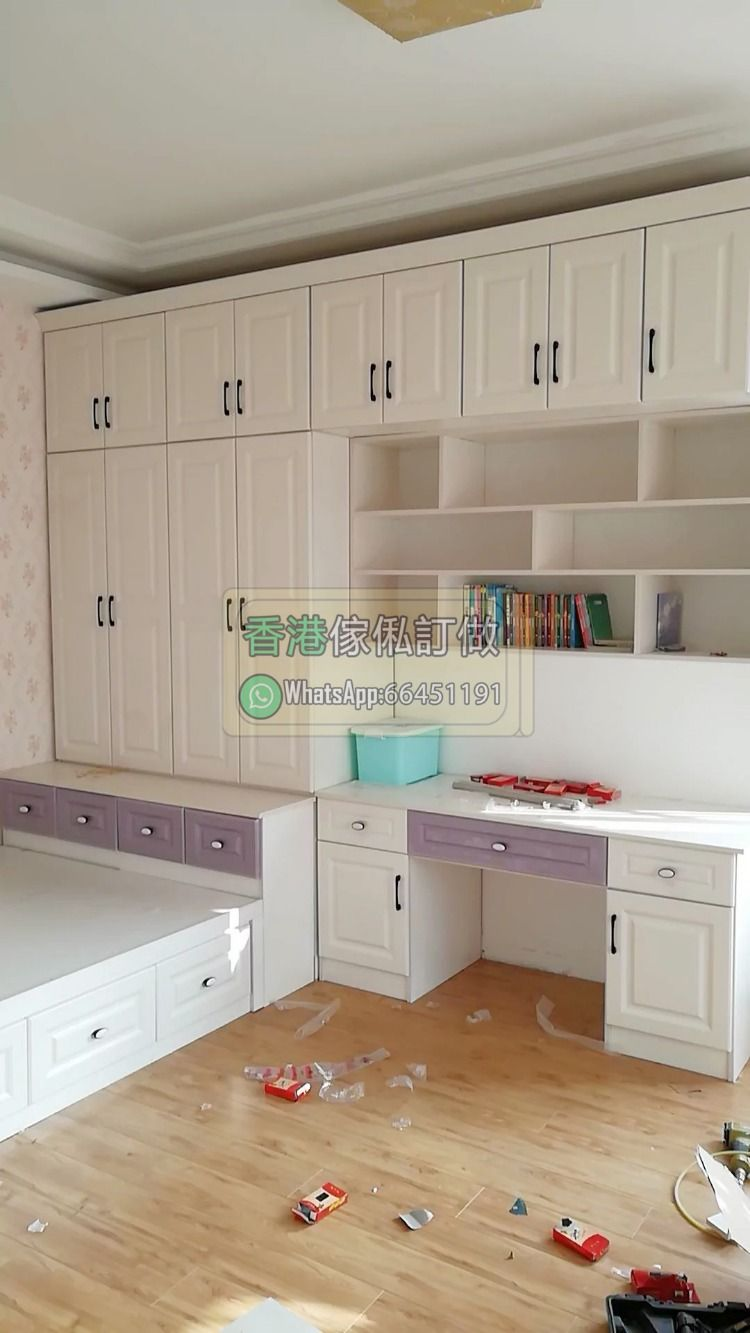 Hong Kong whole house furniture custom-made interior space design furniture custom bedroom custom-made kitchen custom public housing furniture private building children's room Hong Kong bedroom fashion 304 stainless steel overall kitchen cabinet custom wood grain simple kitchen…