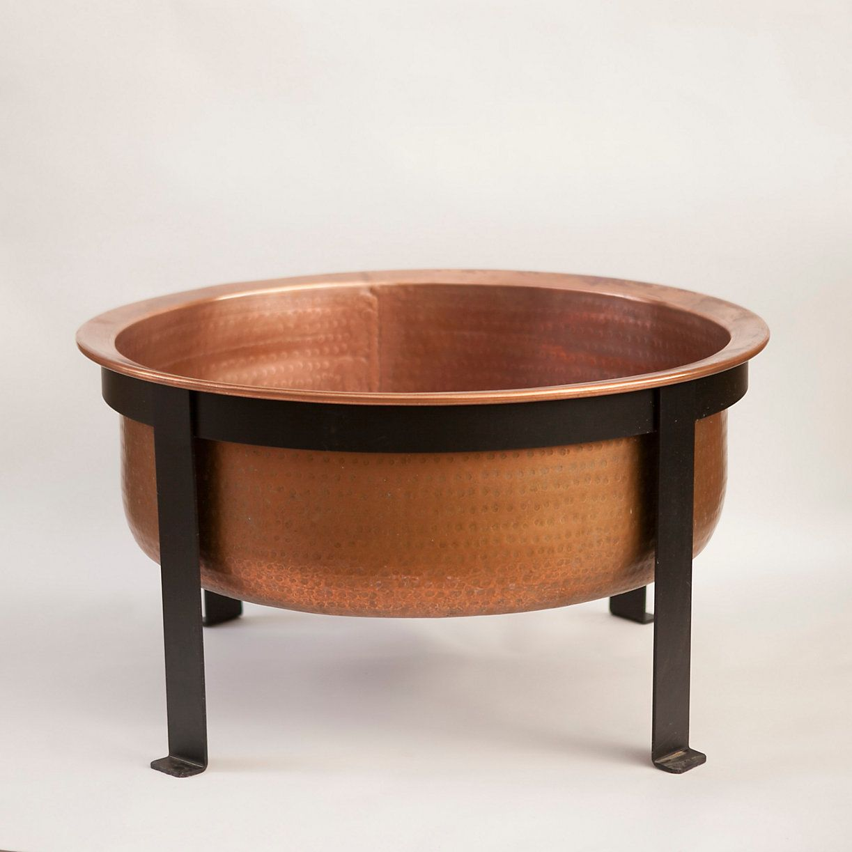 Copper table fire pit copper fire pit outdoor tables and patios