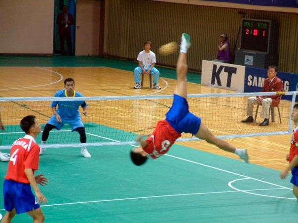 Sepak Takraw Exciting Fantastic Unusual Energetic Acrobatic Action Volleyball Sports Volleyball Humor