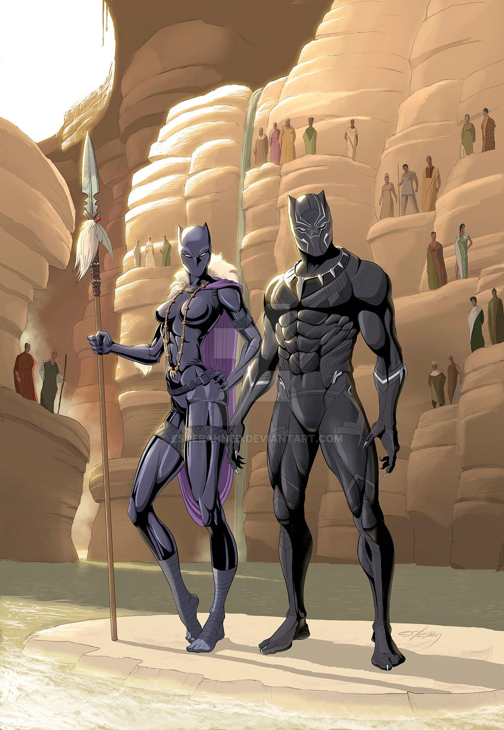 Black Panther By Estebanned Black Panther Comic Black Panther Marvel Black Panther