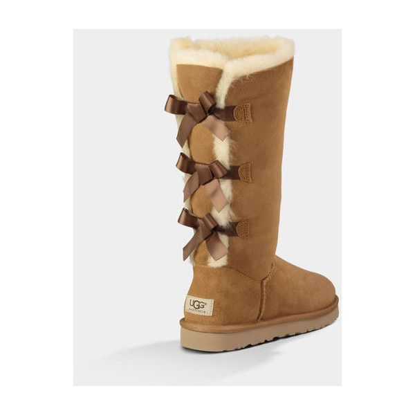 UGG Bailey Bow Tall: Size 11 ($250) ❤ liked on Polyvore featuring shoes, ugg, boots, zapatos, ugg australia, ugg® australia shoes, bow shoes, ...