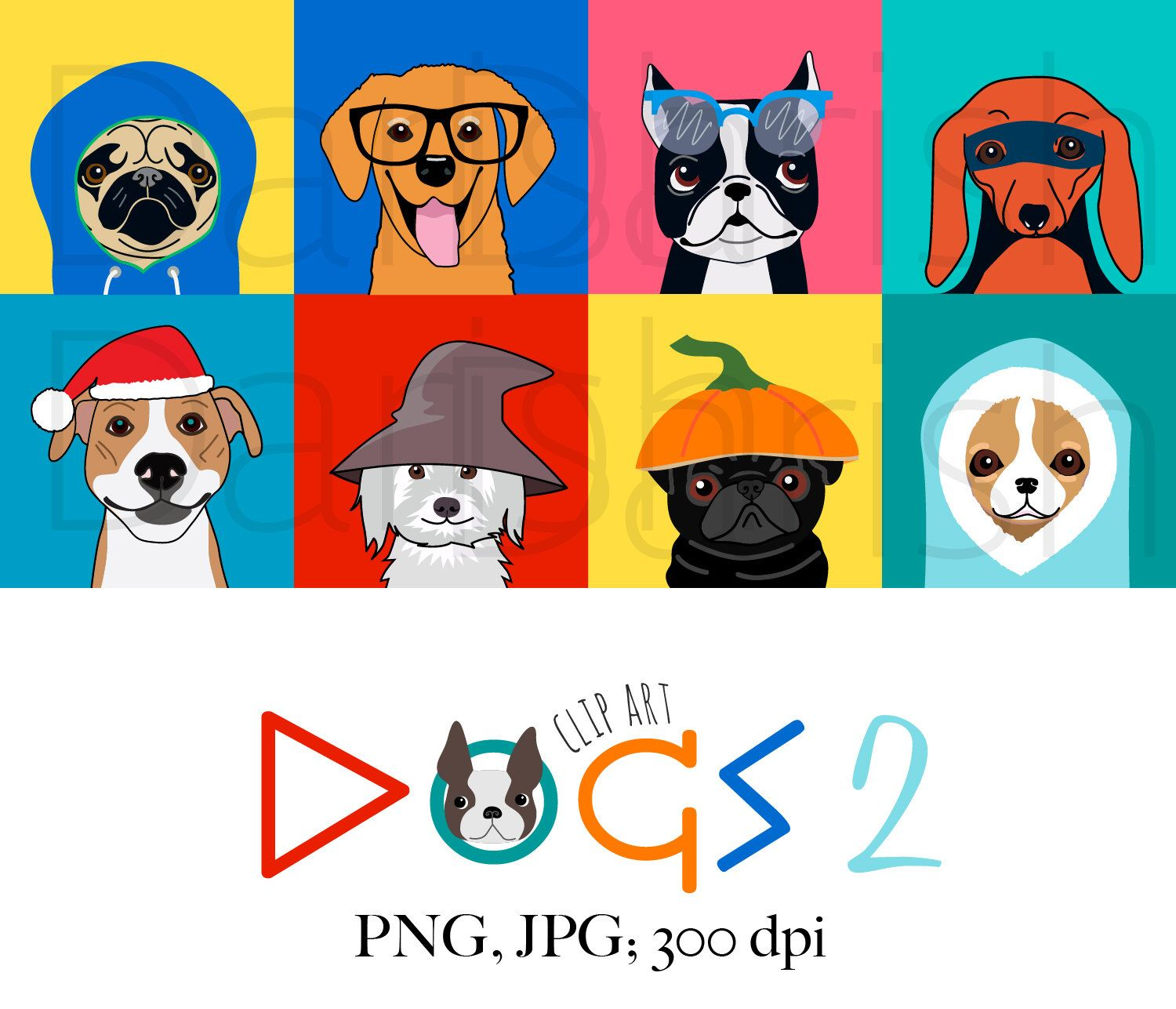 dog holiday clip art dog clipart dog halloween animal clipart dog characters [ 1500 x 1287 Pixel ]