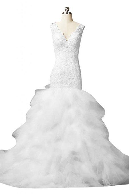 Exquisite V-neck Wedding Dress $363.69