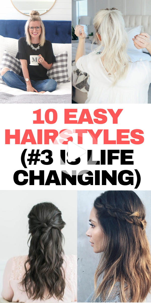 10 Quick Easy Hairstyles For Lazy Days That Are Super Cute In 2020 Easy Work Hairstyles Easy Hairstyles Lazy Girl Hairstyles