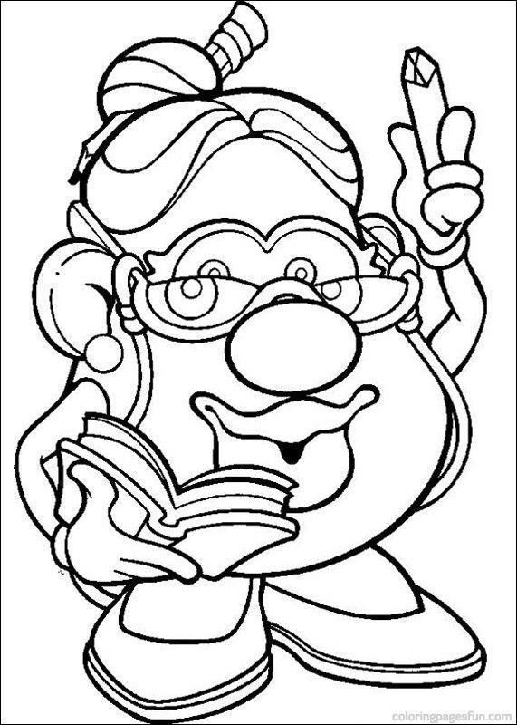 Mr. Potato Head Coloring Pages 6   Pott heads   Pinterest   Mr ...