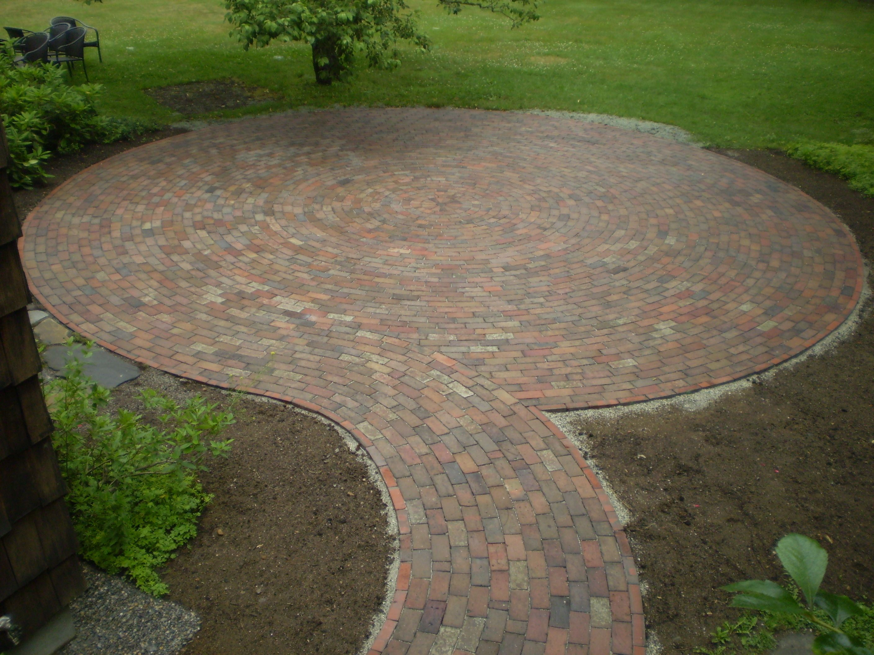 brick patios pictures ideas reclaimed brick patio cumberland foreside maine