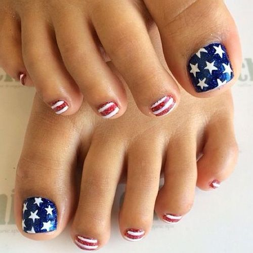 Red White Blue Toe Nail Designs Valoblogicom