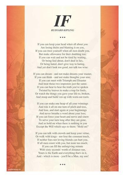 Top 10 Stunning If Rudyard Kipling Typography Posters Usa