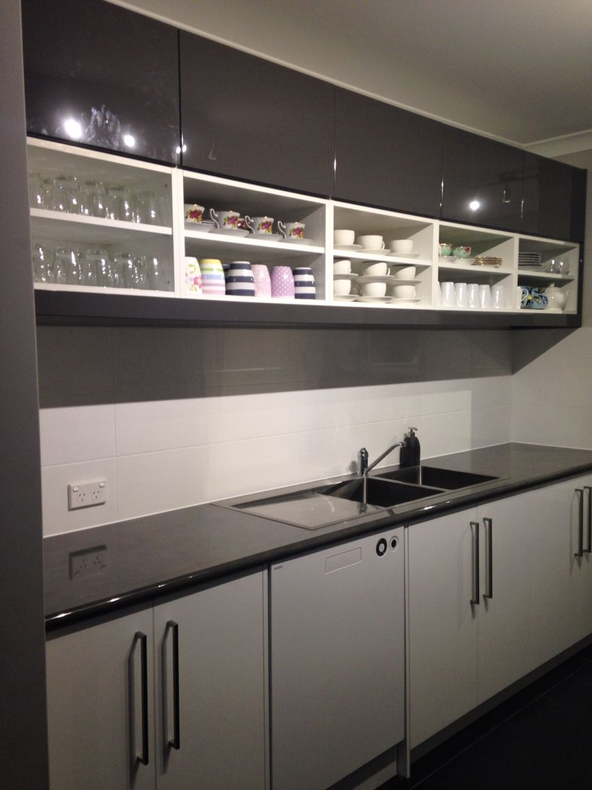 Our Scullery Overhead Cabinets. Ten Fan Cabinet Five With Doors And Five  Open.
