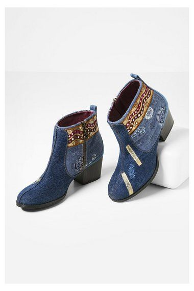 b14c0d90109 Zapatos Desigual Botines Denim Patch Country