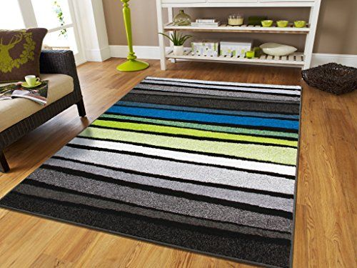 New Fashion Large 8x11 Striped Rug Blue Rugs Clearance 8x10 Black