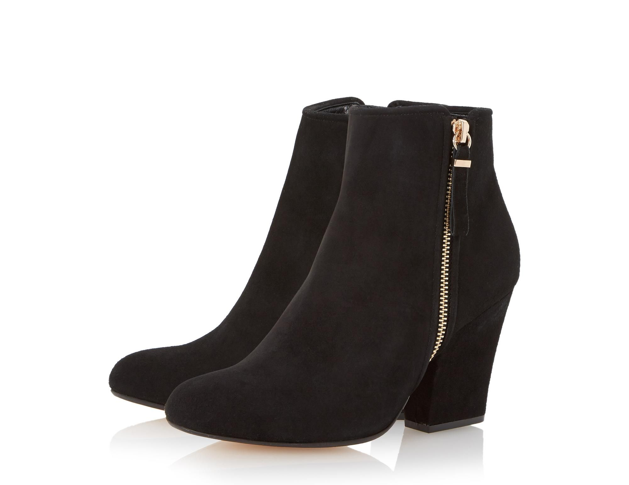 Black heeled ankle boots, Boots, Dune shoes