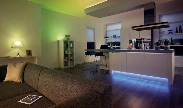 Indirekte Beleuchtung-dramatischen Look durch farbiges Licht ...