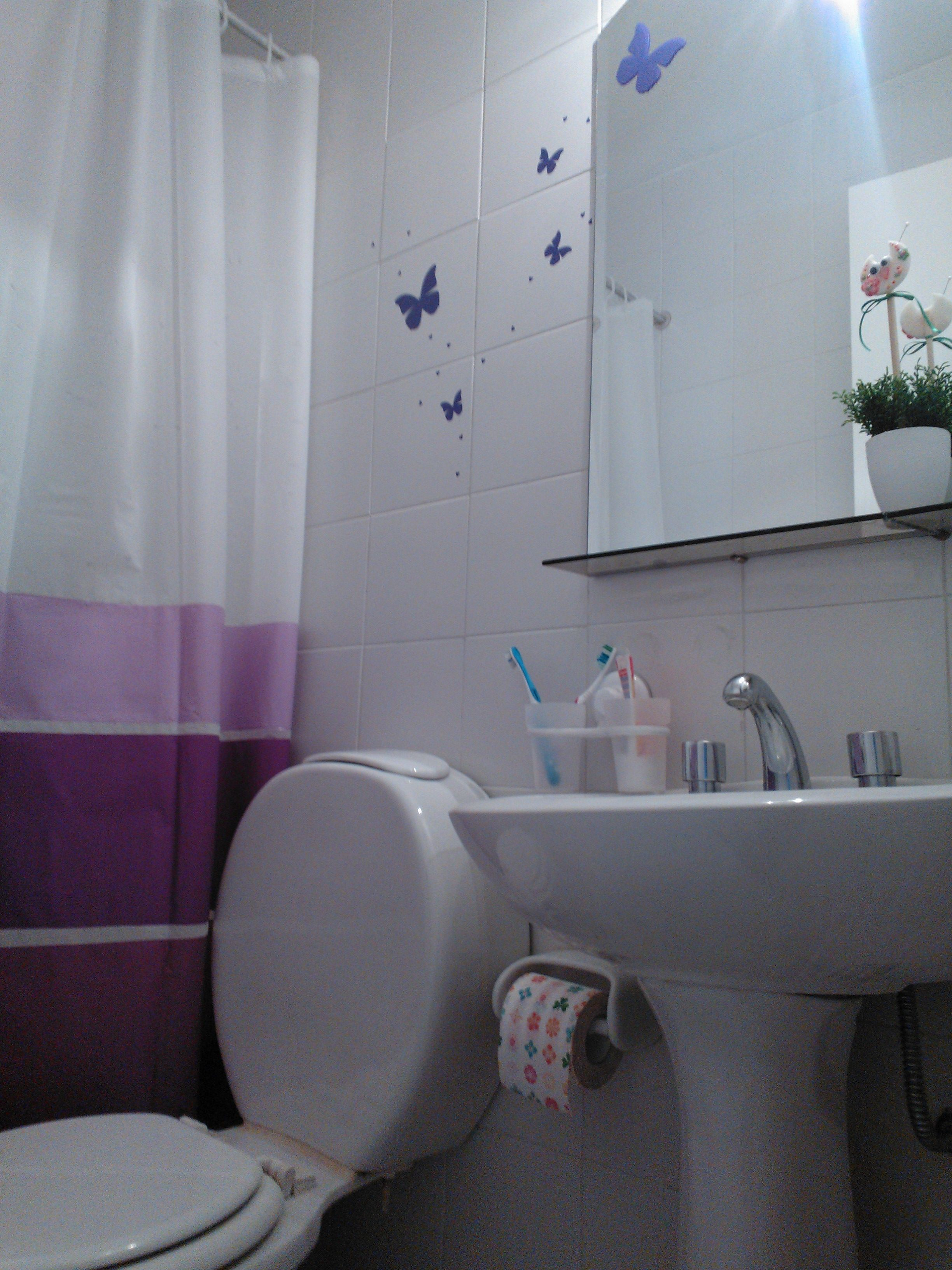 Detalles En El Bano Todo El Lila Y Violeta Decoracion Para El