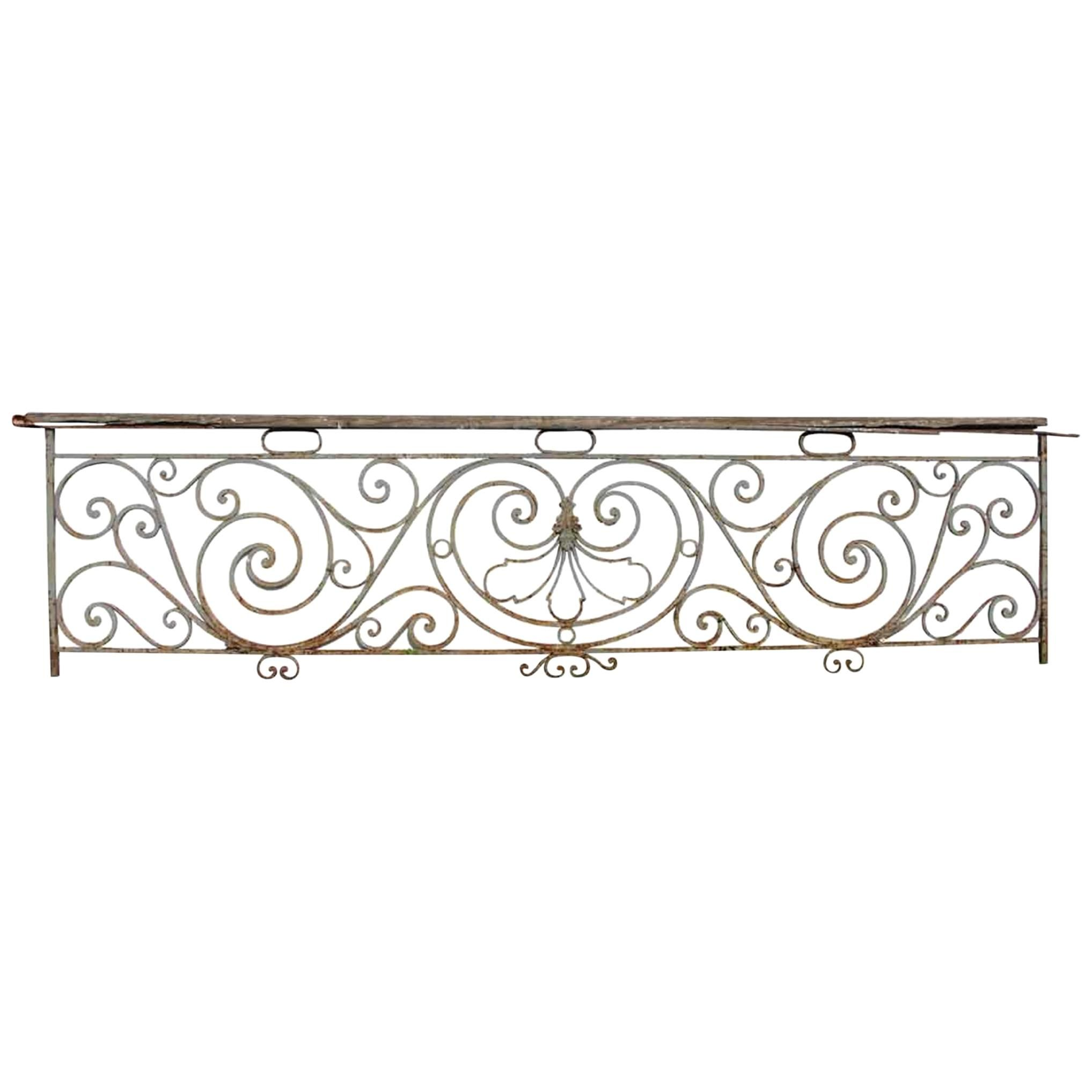 1890s Rococo Wrought Iron Balcony Railing For Sale At 1stdibs