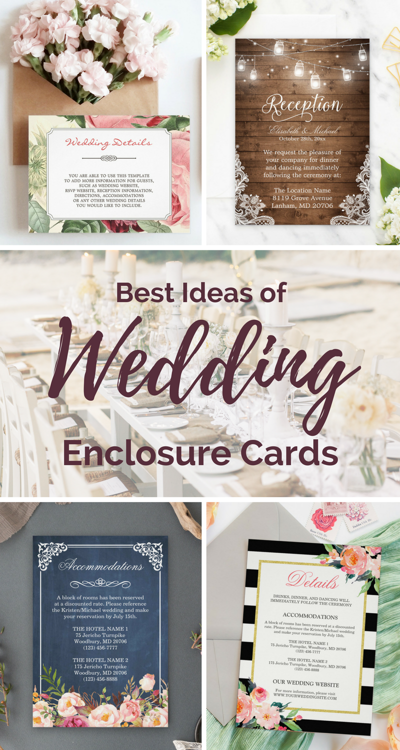 16 Best Ideas about Wedding Enclosure Cards | Wedding enclosure cards,  Wedding details card, Wedding day tips