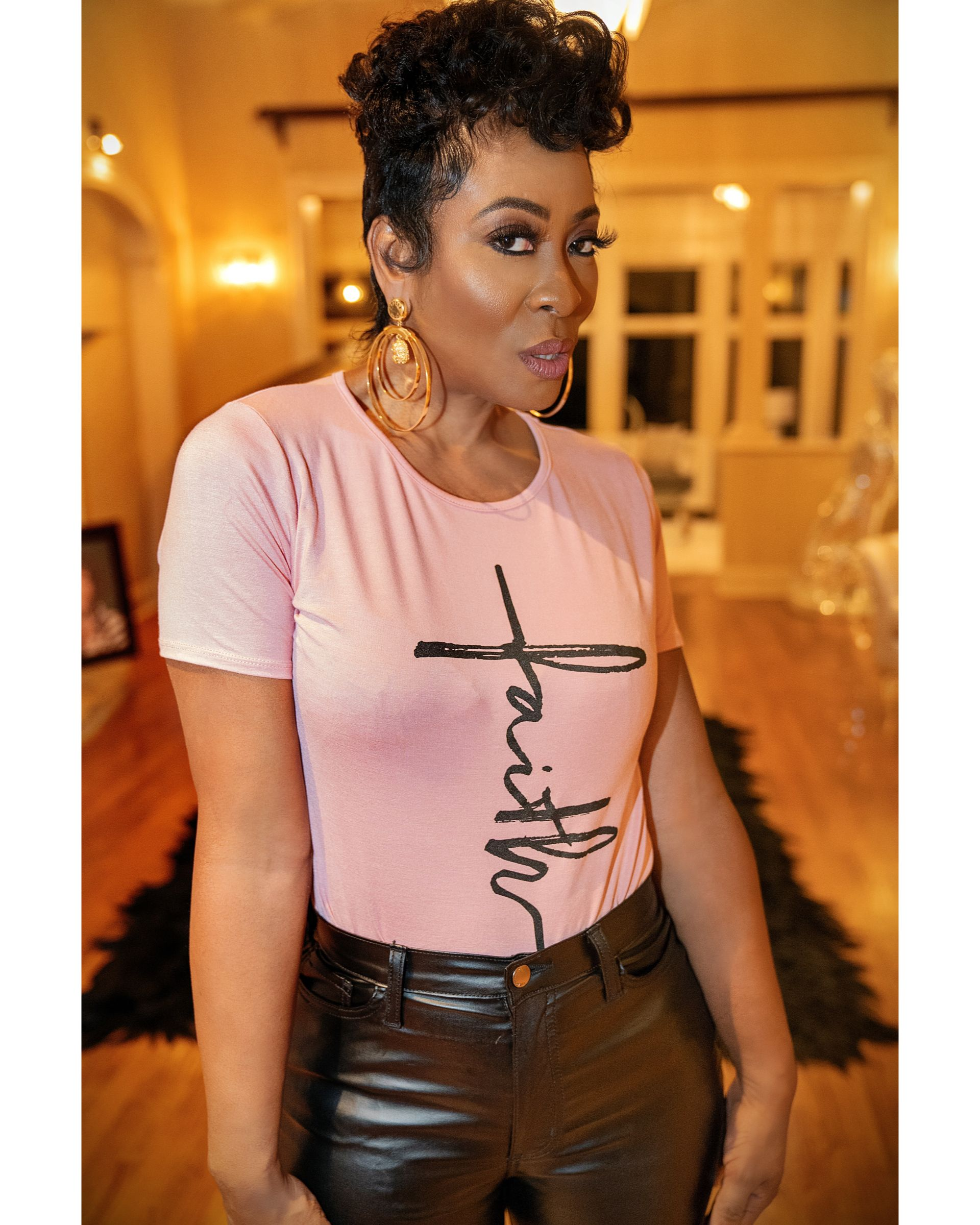 Tees And Thangs 18k Gold Gritty Hoops Earrings Keep The Faith Tee Available To Buy At Grittysoul C Clothes For Women Faith Tees Fashion
