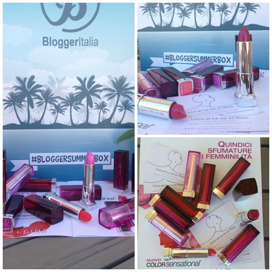The whole collection of #colorsensational #lipsticks by #maybelline via #bloggersummerbox #bloggeritalia