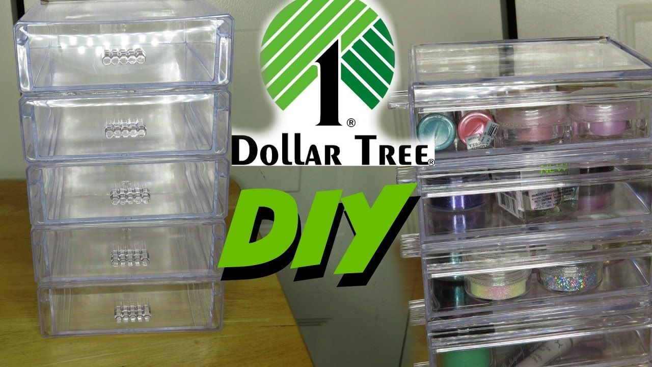 Diy Dollar Tree Acrylic Drawer Tier Organizers 2017 Dollar Store