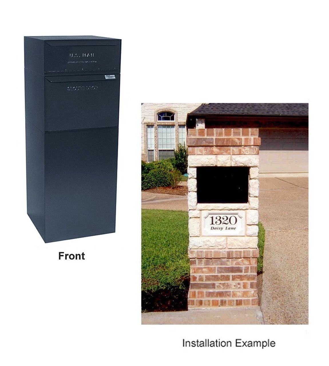 Mailbox With Package Compartment Dvault Full Service Vault Dvcs0015 Secure Curbside Mailbox Package Drop With Security Mailbox Building A New Home Letter Box