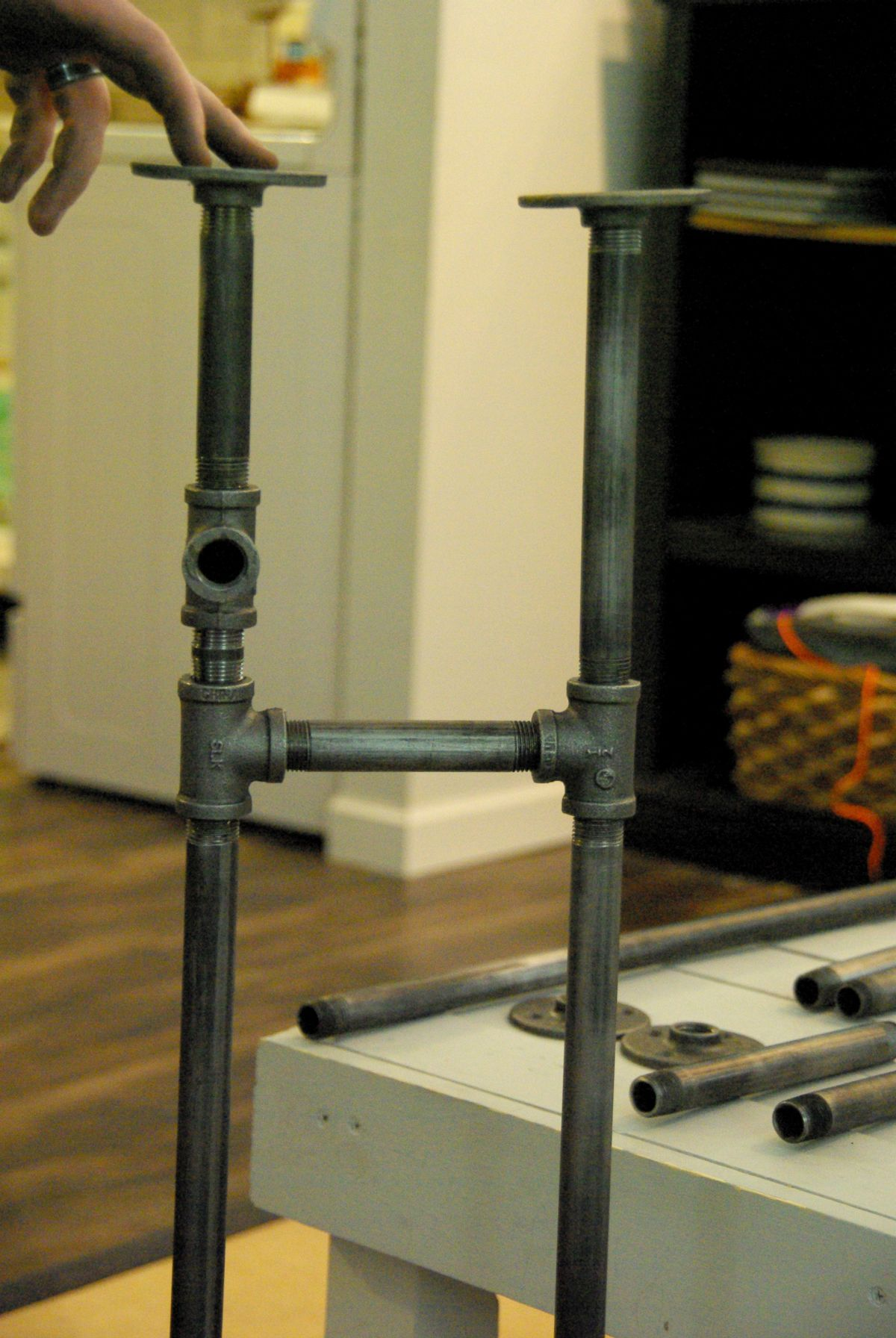 How To Build A Rustic Table Using Galvanized Pipes   Ceiling ...